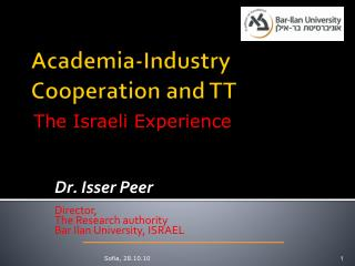 Academia-Industry  Cooperation  and TT