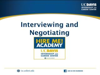 Interviewing and Negotiating