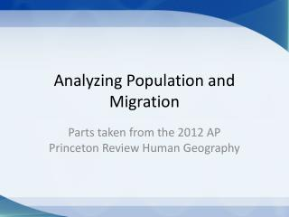 Analyzing Population and Migration