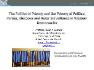 The Politics of Privacy and the Privacy of Politics:   Parties, Elections and Voter Surveillance in Western Democracies
