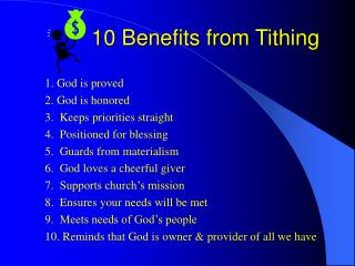 10 Benefits from Tithing