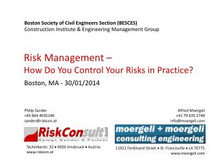 Risk Management –  How Do You Control Your Risks in Practice?