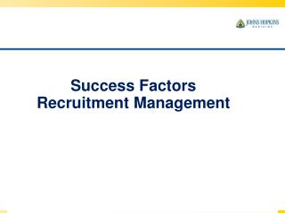 Success Factors Recruitment  Management