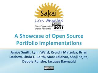 A Showcase of Open Source Portfolio Implementations