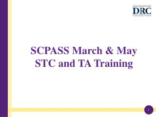 SCPASS March & May STC and TA Training