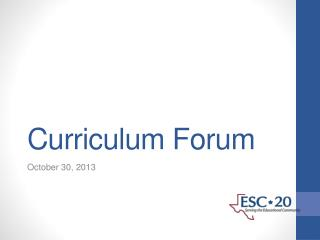 Curriculum Forum