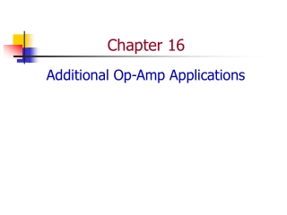 chapter 16 additional op-amp applications