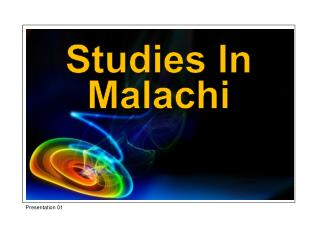 Studies In Malachi