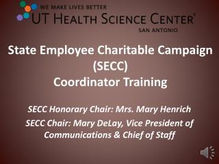 State Employee Charitable Campaign (SECC)  Coordinator Training