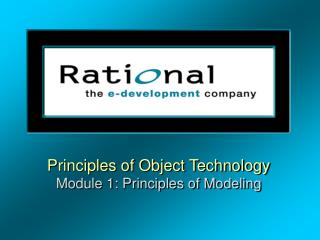 Principles of Object Technology Module 1: Principles of Modeling