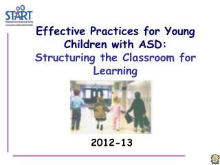 Effective Practices for Young Children with ASD:  Structuring the Classroom for Learning