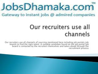 Jobsdhamaka - Get the right resume for the right job
