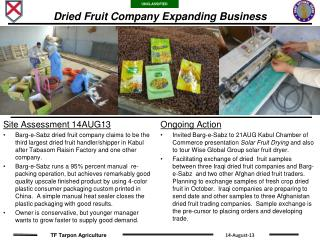 Dried Fruit Company Expanding Business