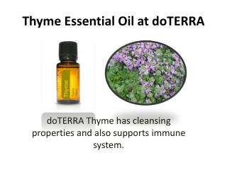 Thyme Essential Oil at doTERRA
