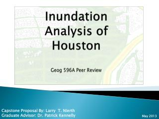 Inundation Analysis of Houston