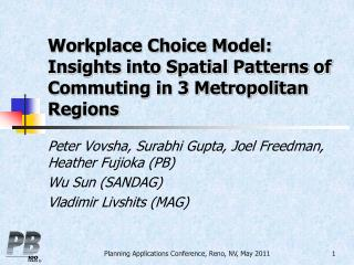 Workplace Choice Model: Insights into Spatial Patterns of Commuting in 3 Metropolitan Regions