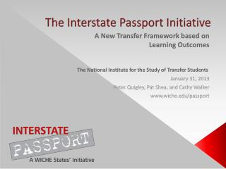 The Interstate Passport Initiative