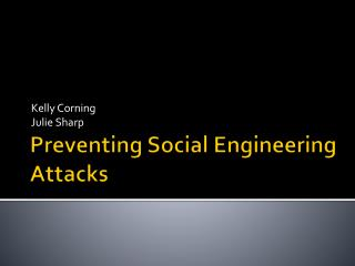 Preventing Social Engineering Attacks