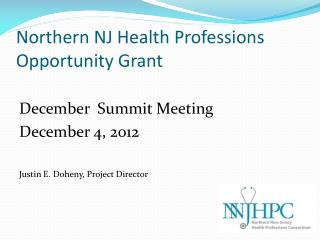 Northern NJ Health Professions Opportunity Grant
