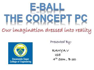 E-BALL The concept pc
