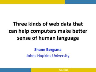 Three kinds of web data that can help computers make better sense of human language