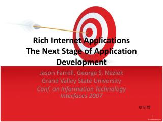 Rich Internet Applications The Next Stage of Application Development