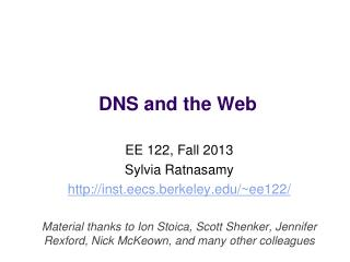 DNS and the Web