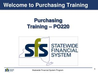 Welcome to Purchasing Training