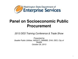 Panel on Socioeconomic Public Procurement