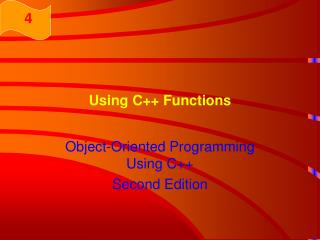 Using C++ Functions