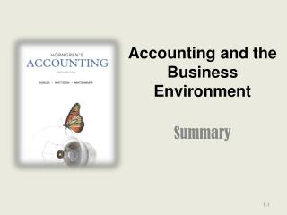 Accounting and the Business Environment