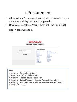 eProcurement