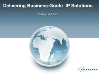 Delivering Business-Grade  IP Solutions Prepared for: