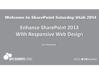 Enhance SharePoint 2013 With Responsive Web Design