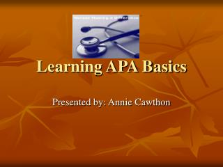 Learning APA Basics