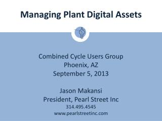 Managing Plant Digital Assets