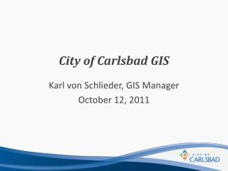 City of Carlsbad GIS