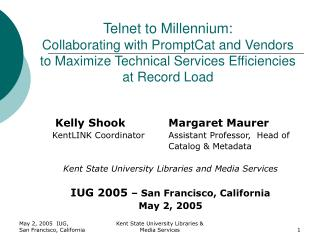 Telnet to Millennium:  Collaborating with PromptCat and Vendors to Maximize Technical Services Efficiencies at Record Lo