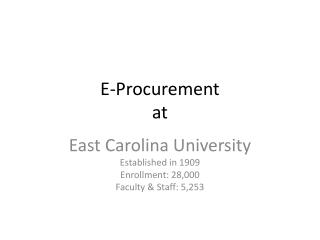 E-Procurement at