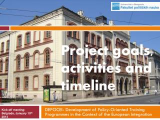 DEPOCEI- Development of Policy-Oriented Training  Programmes  in the Context of the European Integration