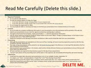 Read Me Carefully (Delete this slide.)