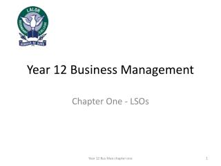 Year 12 Business Management