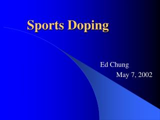 Sports Doping