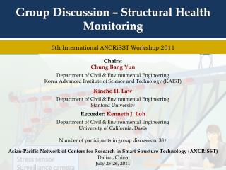 Group Discussion – Structural Health Monitoring