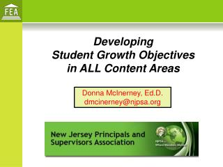 Developing  Student Growth Objectives  in ALL Content Areas