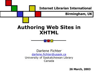 Authoring Web Sites in XHTML
