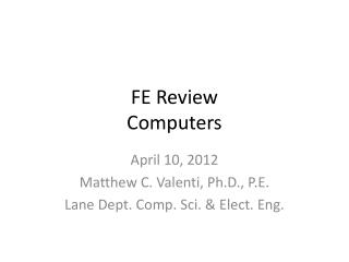 FE Review Computers