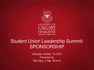 Student Union Leadership Summit: SPONSORSHIP