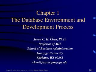 Chapter 1 The Database Environment and Development Process