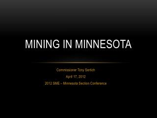 Mining in Minnesota